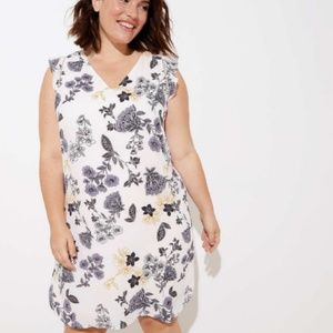 Ann Taylor LOFT Plus Floral Flutter Slv. Dress 22